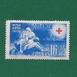 ROMANIA-CRUCEA ROSIE-NESTAMPILATA-LP 151-3 VAL.