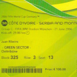 Bilet meci CM 2006 Coasta de Fildes - Serbia