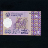 Bancnota Straine - Tadjikistan 50 diram 199 necirculata