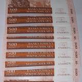 MADAGASCAR 2004 - 500 ARIARY - LOT 10 BUC. - UNC