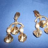 Cercei Frunza cu Perle