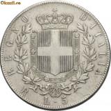 Moneda Medievala, Europa - VITTORIO EMANUELE II 1861---1878. 5 LIRE ARGINT 1877