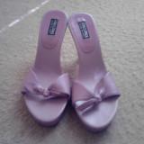 Sandale dama, Marime: 36.5, Grena - Pantofi sandale papuci cu toc