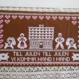 Servet cu cruciulite - tesatura textila