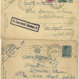 3 carti postale - cenzura Slatina, stampile, timbre aplicate si imprimate 1942-1944 - Carti Postale Romania dupa 1918