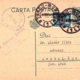 CARTE POSTA- STAMPILA TG.MURES DR.SZORTSEY L.-   DR ALADAR ILIAS  AR.NOU1938-CPRO 26