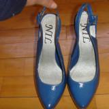 Pantofi cu toc - Pantofi dama, Marime: 35.5, Albastru