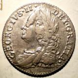 Moneda Medievala, Europa, An: 1757 - C.150 MAREA BRITANIE GEORGE II 6 PENCE 1757 ARGINT 3, 0g