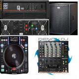 Set profesional DJ (4 x boxe, 2 x trepied, mixer, digital media turntable) - Combina audio