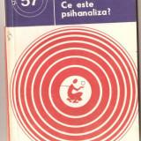 Carte hobby - (C966) CE ESTE PSIHANALIZA? DE AUREL DICU, EDITURA STIINTIFICA SI ENCICLOPEDICA, BUCURESTI, 1978