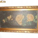 Tablou trandafiri galbeni - Pictor roman
