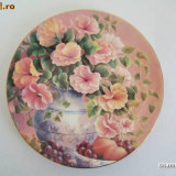 Farfurie decorativa WEDGOOD ~~ CORAL LULLABY ~~ - Portelan