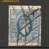 Romania.1865 Cuza efigia in oval 5 Parale TD.1 - Timbre Romania