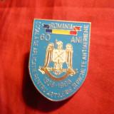 Insigna Militara -60 Ani Sc. Artilerie si Rachete Antiaeriene