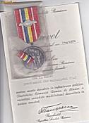 Medalia 30 de ani de la eliberarea Romaniei de sub dominatia fascista+husa+BREVET foto