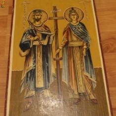 Icoana pe lemn cu foita de aur Sfintii Imparati - Icoana cu foita de aur