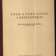 Ionascu, Unde a fost satul Carstienesti, 1944 - Carte Editie princeps