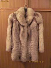 Haine dama, Antracit - Haina de blana vulpe argintie