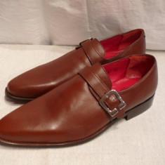 Pantofi barbati - Pantofi cu catarama, maro tabac, Lord Byron (A7-13 BROWN) REDUCERE EXCEPTIONALA DE PRET
