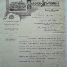 Scrisoare a firmei Warnier, cu filiala in Romania, 1922 - Hartie cu Antet