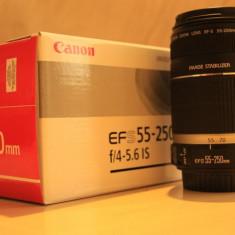 Canon EF-S 55-250 f4-5.6 IS - Obiectiv DSLR Canon, Tele, Autofocus, Canon - EF/EF-S, Stabilizare de imagine