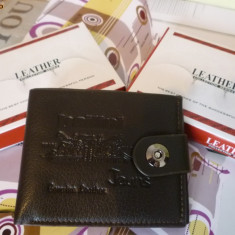 Portofel negru Bailini capsa siguranta material combinat piele si piele eco - Portofel Dama
