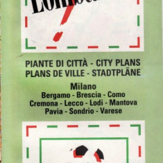 HARTA RUTIERA COLOR ITALIA LOMBARDIA