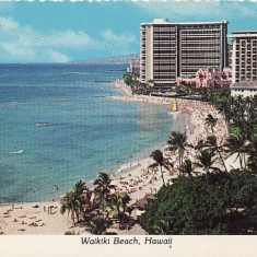 USA, SUA - Waikiki Beach-Hawaii, Circulata, Printata