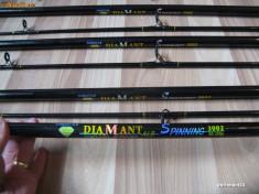 Lanseta - Set 6 Lansete ( bete pescuit ) 3 Metri din 2 bucati Marca Diamant Alb