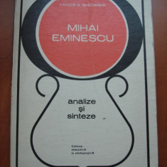 FANICA N. GHEORGHE - MIHAI EMINESCU * ANALIZE SI SINTEZE