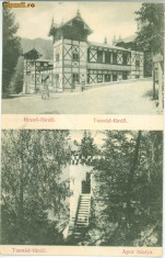 Carti Postale Romania dupa 1918, Circulata, Fotografie - TUSNAD-1-CIRCULATA-1931-NECIRCULATA APROXIMATIV1920 LOT-2 CARTE POSTALA VEDERI