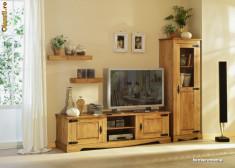 Comoda dormitor - Comoda TV si Turn Program Mexican Mobila din lemn masiv origine Brazilia