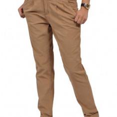 Pantaloni bej raiati / talie inalta - marimea Xs - S. - Pantaloni dama