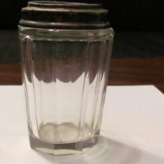 CY - Recipient vechi sticla (cristal?) bizotata (1) - Arta din Sticla