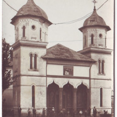 2609 - Olt, CARACAL, Church Catedrala - old postcard, real FOTO - unused - Carte Postala Oltenia dupa 1918, Necirculata, Fotografie