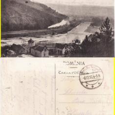 Carti Postale Romania pana la 1904 - Calimanesti (Valcea)- tren, garaj auto-rara