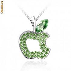Lantisor Green Apple Swarovski - Colier Swarovski