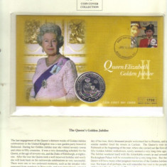 Bnk mnd Sierra Leone 1 $ 2002, Jubileul de Aur al reginei Elisabeta II, FDC (2)