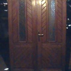 Mobilier - Usi din lemn de fag masive de intrare cu luneta