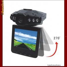 Camera video auto - Camera video portabila cu inregistrare HD, inflarosu, DVR si display 2, 5 inch TFT; speciala pt auto, masina, martor accident, cu senzor de miscare SPY