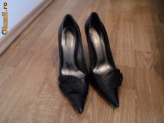 Pantofi dama, 37 1/3, Fuchsia - Pantofi piele gala
