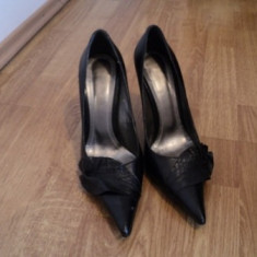 Pantofi piele gala - Pantof dama, 37 1/3, Fuchsia