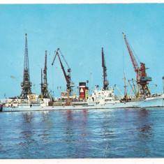 Carte postala(ilustrata)-CONSTANTA-vedere din port - Carte Postala Dobrogea dupa 1918, Circulata