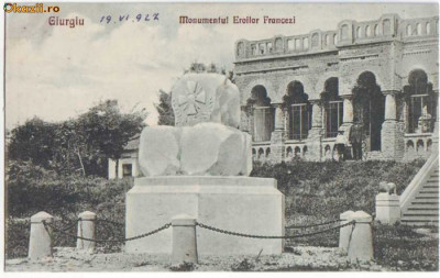 795 - GIURGIU - Monumentul eroilor FRANCEZI - 1921 foto