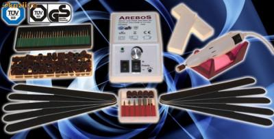 Pila / freza electrica unghii false, 500 - 20.000 rpm /turatie reglabila cu comanda manuala + bonus set complet accesorii, manichiura/pedichiura foto