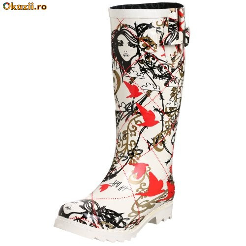 Cizme de Guma Originale CHOOKA -VooDoo Graphics Rain Boot foto mare