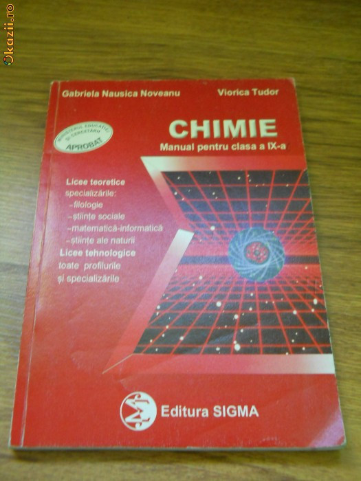 Manual Chimie - Clasa a 9-a foto mare