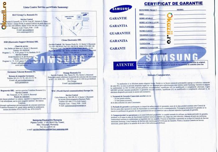 telefon mobil samsung certificat de garantie necompletat. Black Bedroom Furniture Sets. Home Design Ideas