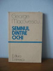 Roman - George Macovescu - Semnul dintre ochi
