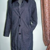 Palton dama, Antracit, Bumbac - Paltonas de blug